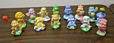 Set of 14 Vintage 1984 American Greetings Ceramic Figures Care Bears & Cousins