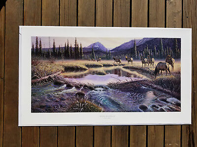 "Larry Zabel ""Beaver Meadow Elk"" Limited Edition Print No. 358/500"