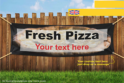 Fresh Pizza Custom Text Food Take Away Heavy Duty PVC Banner Sign 3016