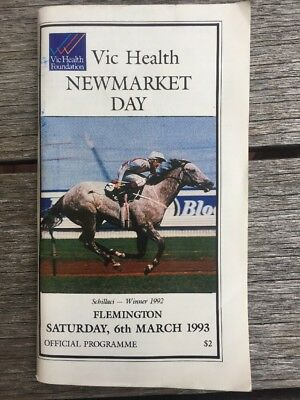 Vintage 1993 Vic Health Newmarket Day Official Programme.