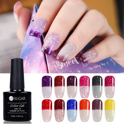 7.5ml Snowflake Thermal Soak Off UV Gel Nail Polish Glitter Gel Varnish UR SUGAR