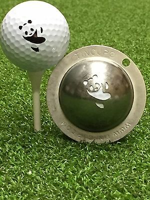 1 only TIN CUP GOLF BALL MARKER - PANDAMONIUM - YOURS FOR LIFE & EASY TO DO