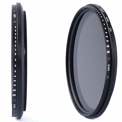 67mm Variable Fader ND Lens Filter Neutral Density ND2 ND8 ND16 to ND400 LF26
