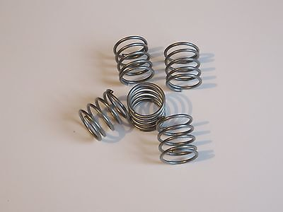 TEN (10) NEW 15mm COMPRESSION SPRINGS, CLOSED END, NOT STAINLESS STEEL(667e)