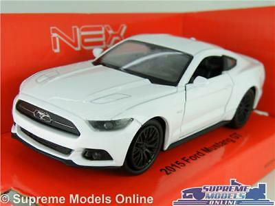 Ford Mustang Gt 2015 Model Car 1:38 Scale White Sports Welly Nex New Shape K8