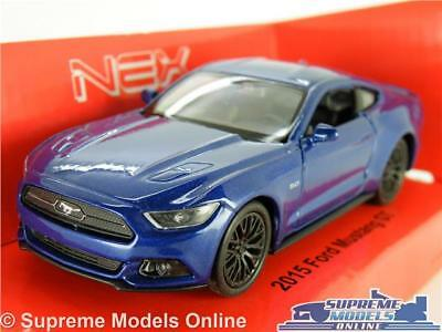Ford Mustang Gt 2015 Model Car 1:38 Scale Blue Sports Welly Nex New Shape K8