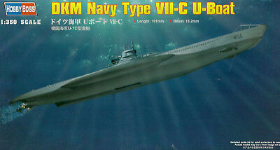 Hobby Boss 83505 DKM Type VII-C Submarine - U Boot - 1:350