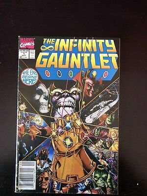 INFINITY GAUNTLET 1, 7/91, Thanos appearance, Avengers Infinity War movie Coming