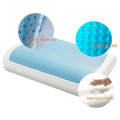 Luxury High Density Memory Foam Pillow with Cooling Gel Standard / Contour Size