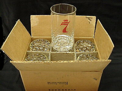 Vintage Libbey Seagram's 7 Crown Glasses in Original Box (6)