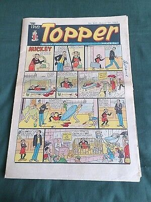 THE TOPPER  - UK COMIC - 9th  AUGUST 1969  - # 862