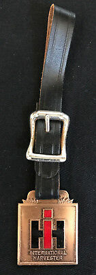 Nos Vintage International Harvester Tractractors Watch Fob-Dealer Oakland