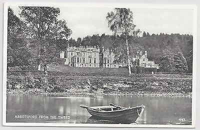 """Valentine's """"Silveresque"""" Postcard – Abbotsford from the Tweed."""