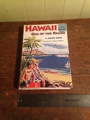 Vintage HAWAII GEM OF THE PACIFIC Book 1954 History of Hawaii Becomes a State