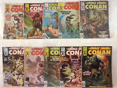 Savage Sword of Conan the Barbarian Lot of 10,  Numbers 11-20,  NO RESERVE