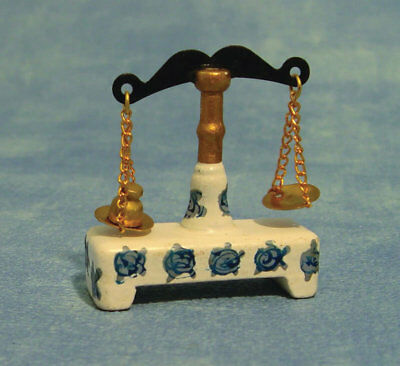 Chemist's Weighing Scales, Dolls House Miniature, Kitchen Accessory