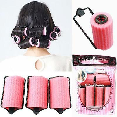 Hot Magic Sponge Foam Cushion Hair Styling Rollers Curlers Twist Tool Salon UP