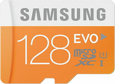 Samsung 128GB up to 48MB/s EVO Class 10 Micro SDXC Card with Adapter (MB-MP12...