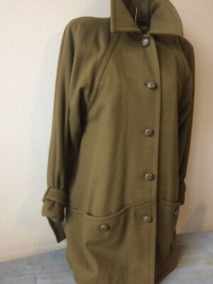 yves saint laurent Ladies Short Coat  Vintage Classic Yves Saint Laurent  Olive