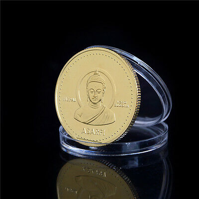 1PC Gold-plated Coin Nepal Buddha Commemorative Coin Collection TB
