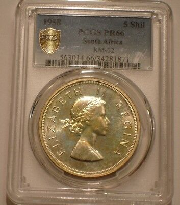 1958 Silver 5 Shillings of South Africa PCGS PR 66 Pop of 12 with 0 finer