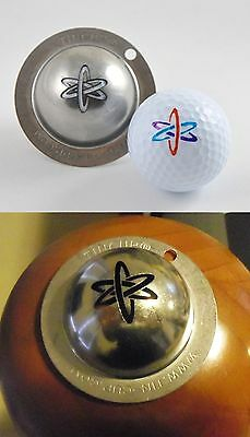 1 only TIN CUP GOLF BALL MARKER - NUKE IT - YOURS FOR LIFE & EASY TO DO