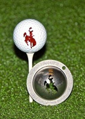 1 only TIN CUP GOLF BALL MARKER - RODEO COWBOYS on BRONCOS  - YOURS FOR LIFE
