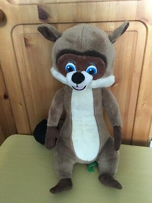 """Dreamworks Over The Hedge RJ Racoon Plush Soft Toy Talking Figure 16"""""""