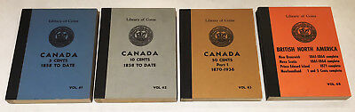 Four 1959 Library Of Coins Canada Albums (Nice Condition) Classics !! No Reserve