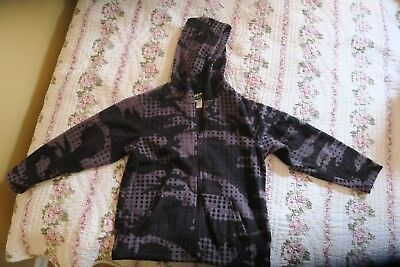 size 7/8 boys black and gray zippered hoodie