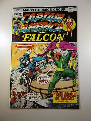 "Captain America and The Falcon #184 ""The Red Skull is Back!"" VF- Condition!!"