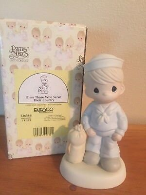 1991 Precious Moments Figurine - Bless those Who Serve Their Country #526568