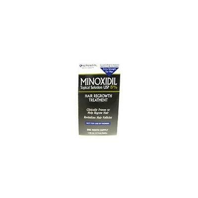 Mens Minoxidil 5 Percent extra strength hair regrowth treatment solution - 2 Oz