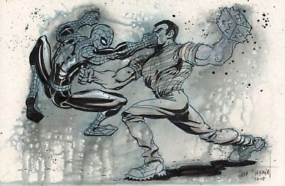 Spider-Man vs Sandman Marvel Comics Original Art GARY SHIPMAN