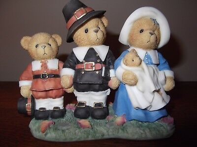 Cherished Teddies Isaac Jeremiah Temperance Faith of our Fathers Pilgrims 707031