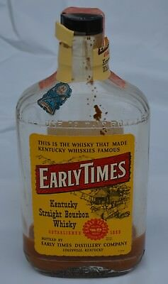 Vintage Early Times Kentucky Straight Bourbon Whiskey Pint Bottle - NO ALCOHOL