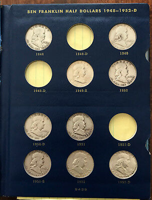 29pc FRANKLIN HALF DOLLAR SET IN A WHITMAN FOLDER - INVEST IN AFFORDABLE SILVER