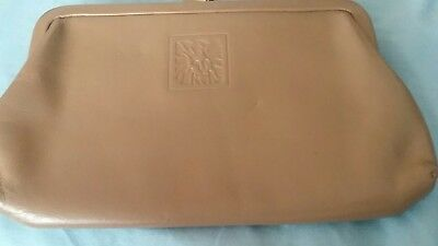 Anne Klein by St. Thomas Vintage change coin purse wallet.VGUC. Taupe gray brown