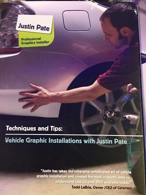 Justin Pate Vehicle Car Graphic Vinyl Wrap Installation 3 Dvd Set Wrapping Guide