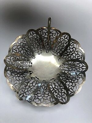 Lovelace International Silver Footed Silver Plate Vintage Basket or Nappy