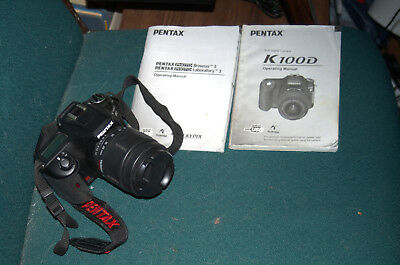 Pentax K K100D  6.1MP Digital SLR Camera - Black