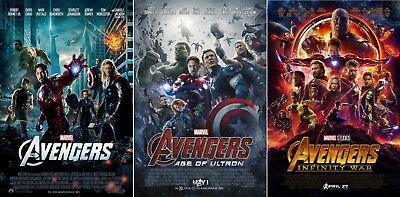 "The Avengers Age of Ultron Infinity War Movie Poster Marvel 13x20"" 27x40"" 32x48"""