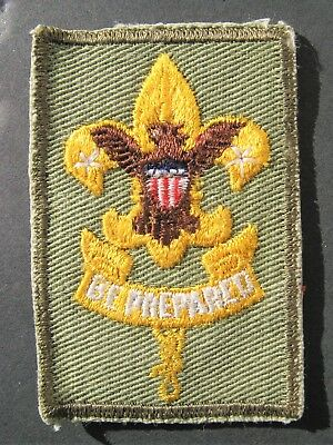"""Boy Scouts Of America Bsa 1970's """"be Prepared"""" Embroidered Twill Patch"""