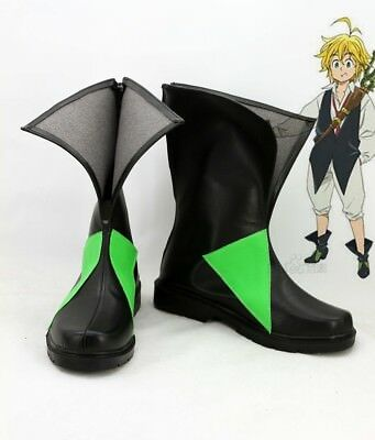 Japan Anime The Seven Deadly Sins Cosplay Shoes Meliodas Anime Party Boots
