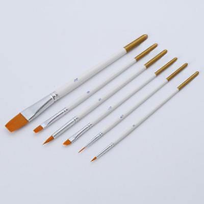 6PCS Professional Art Brush Set Water Color Oil Acrylic Artist Paint Brushes D