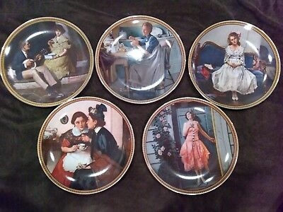 norman rockwell rediscovered women collector plates set of 6