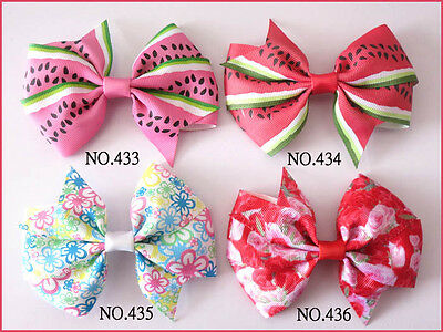 "50 BLESSING Good Girl Custom Boutique 4.5"" Wendy Bow Clip 474 No. Wholesale"