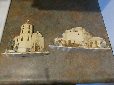 Vtg Burwood Homco Southwestern Mission Adobe Hacienda # 3291 Pair Wall Accents