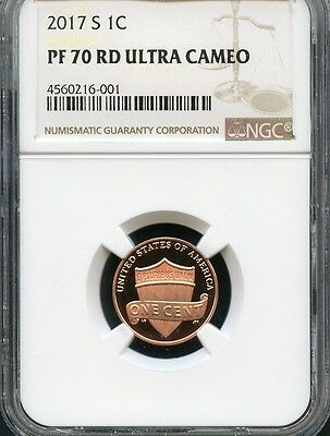 2017 S Lincoln Penny NGC PF70 RD Ultra Cameo (BROWN LABEL)