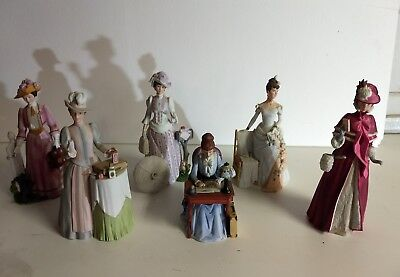 Avon President's Club Lot of 6 Mrs. Albee Porcelain Figurines 83 84 85 86 88 89